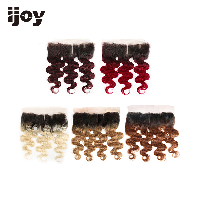 Human Hair With 4x13 Lace Frontal #613/27/30/99J/Burgundy 8