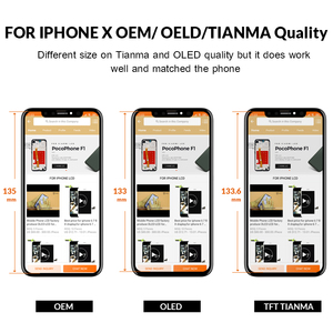 Image 3 - Grade For iPhone X S Max XR LCD Display For Tianma OLED OEM Touch Screen With Digitizer Replacement Assembly Parts Black