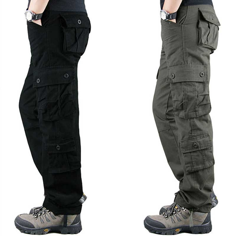 MITEKSAN 2019 Men Cargo Pants Hip Hop Joggers Casual Military Pocket Outdoor Streetwear Trousers Pantalones Hombre Sweatpants
