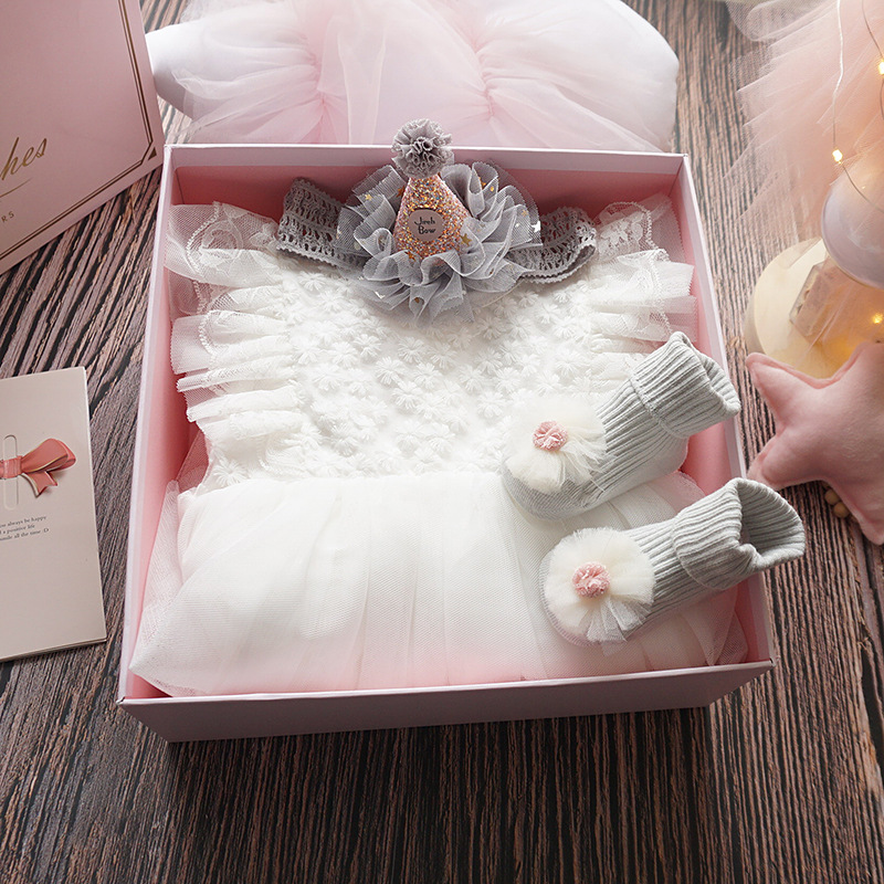 BABY'S FIRST Month Clothes For Babies Princess Newborns Gift Set Online Celebrity Baby Girls Dress Autumn A Year Of Age Gift