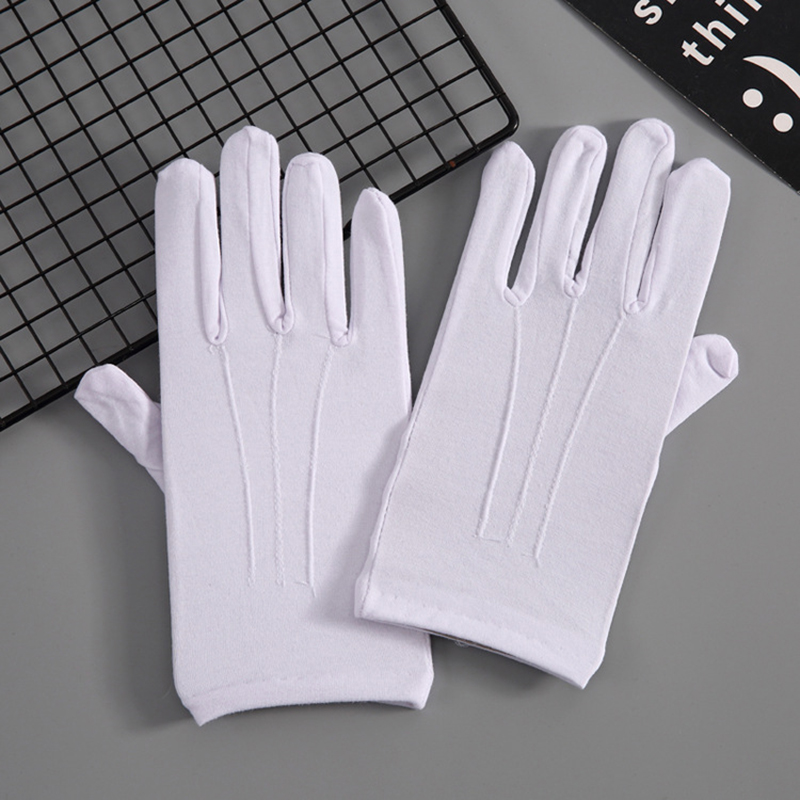 Sun Protection Driving Gloves Women Short Elastic Thin Glove Fashion Solid Color Cotton Summer Sunscreen Gloves Black White