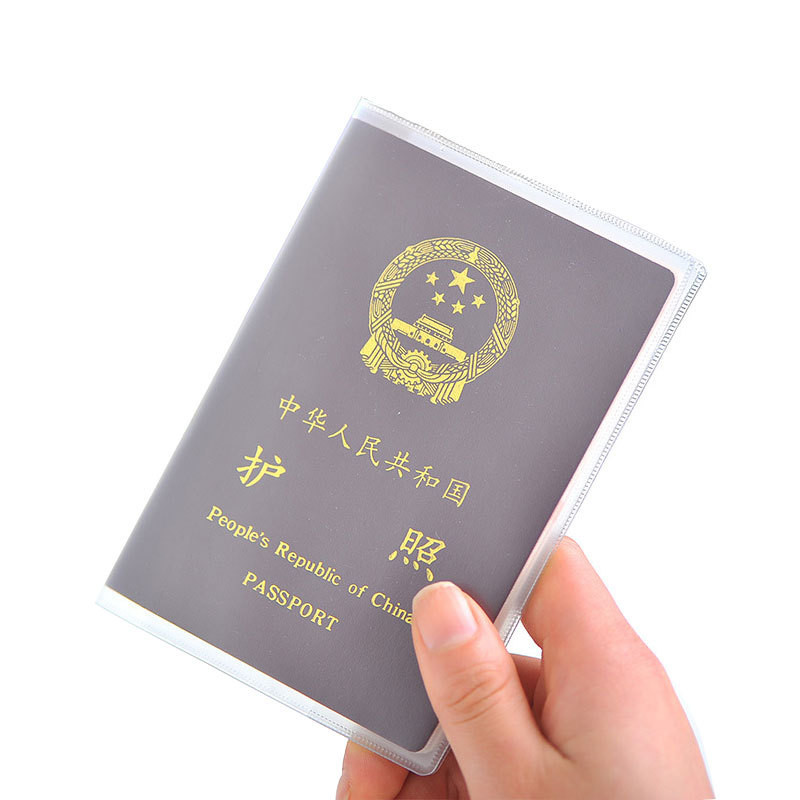 Ougger Waterproof Travel Passport Holder Cover Wallet Transparent PVC ID Card Holders Business Credit Card Holder Case Pouch