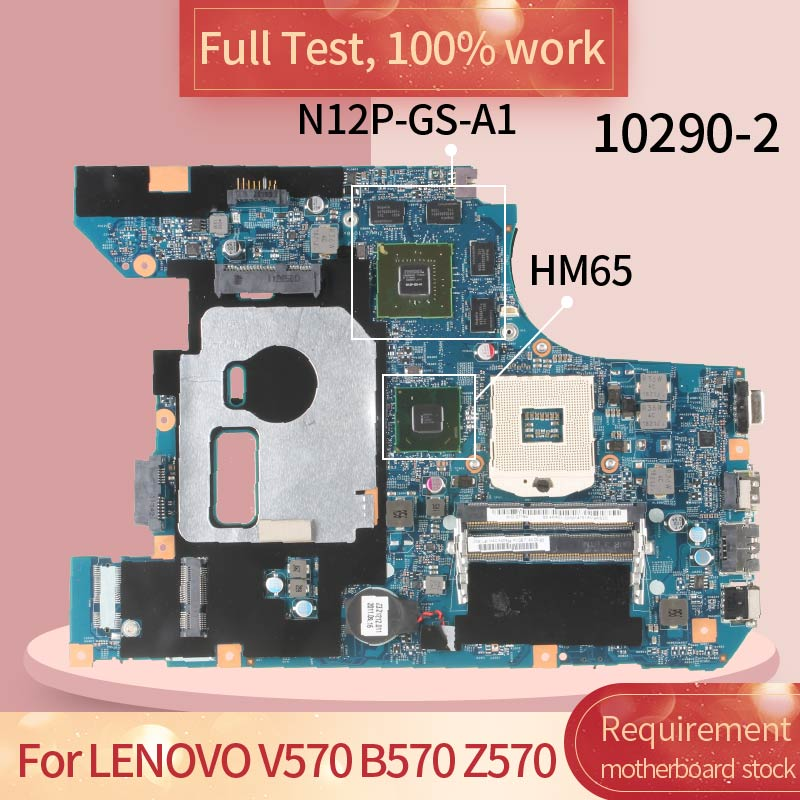 10290-4 For <font><b>LENOVO</b></font> <font><b>V570</b></font> B570 Z570 10290-2 HM65 N12P-GS-A1 Notebook <font><b>motherboard</b></font> Mainboard full test 100% work image