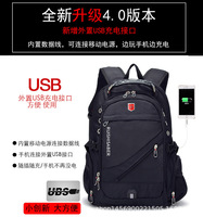 JIULIN Swiss 17 Inch Laptop Backpack bag Men USB Charging Waterproof Travel Backpack Women Rucksack Male Vintage mochila swiss