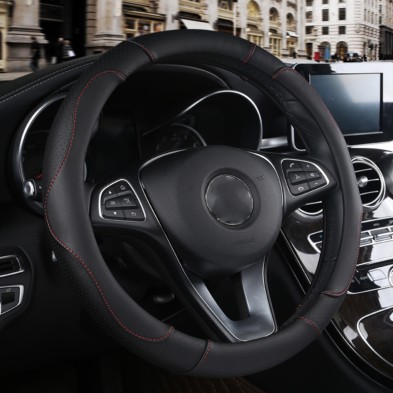 WLMWL Leather Car Steering Wheel Cover For BMW all models f30 f10 e46 x5 e70 x1 x3 e39 x5 x4 f11 Car Styling