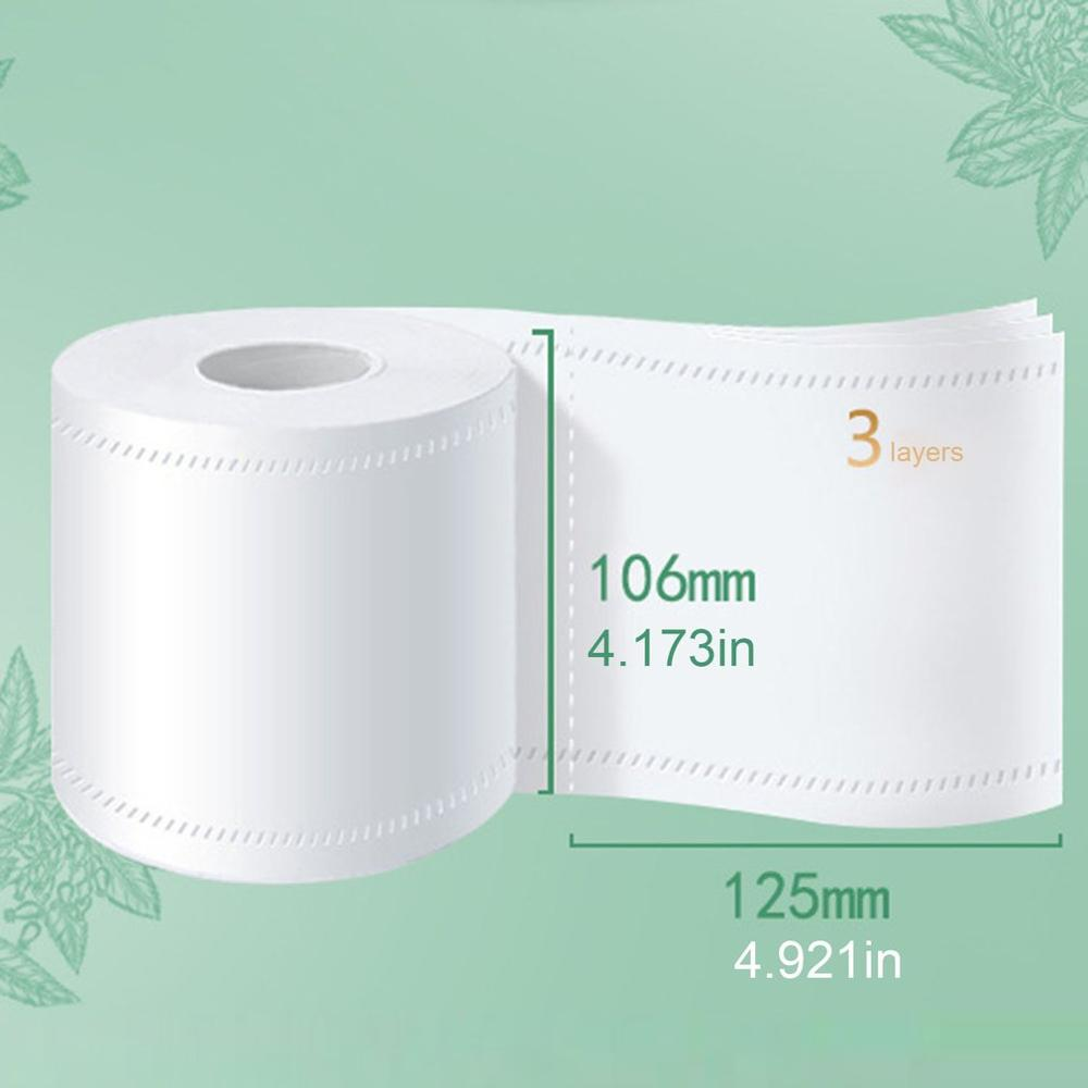 Family-size 1/6 Rolls Standard 3-layer Toilet Paper Bulk Rolls Bath Tissue Household Bathroom Soft Paper Towel For Hotel