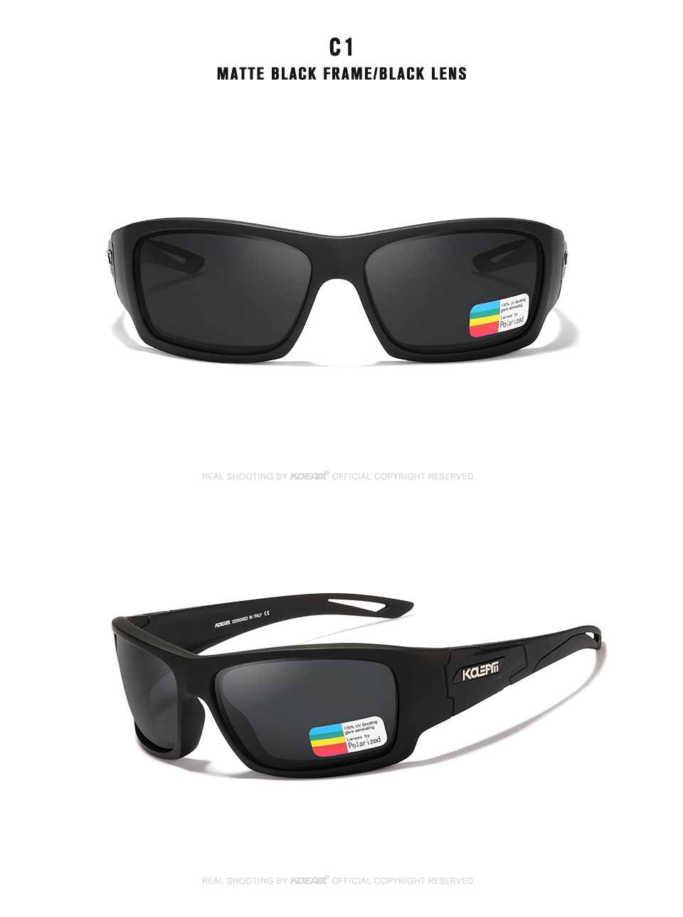 Kdeam luxo óculos de sol do exército