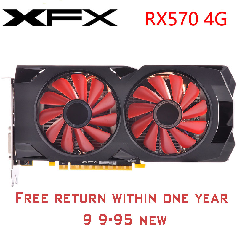 used rx 570 4g 256bit GDDR5 desktop xfx graphics cards video card amd rx 570 4gb rx 570 radeon rx 570 video card 4gb