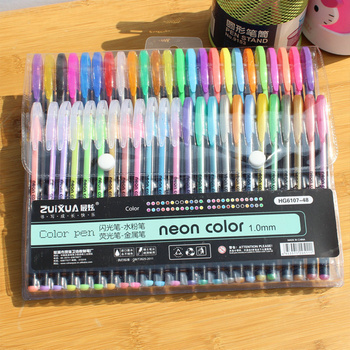 Gel Pen 1.0mm 12/18/24/36/48 Colors Stationery Pigment Gifts Colorful Drawing Color Writing Tool Art Painting pen Accessories 12pcs lot gel pen korean stationery multi color pen 12 colors gel pen set for adult coloring books drawing painting writing
