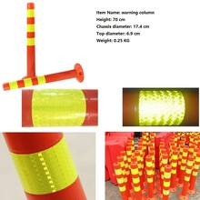 New 70cm Plastic Road Facilities Crossing Sign Safety Warning Pile Elastic Column Safety Cone