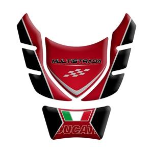 Image 3 - Motorcycle 3D Gel fuel oil Tank Pad Protector Sticker Fish Bone Sticker for DUCATI Multistrada 1200 1260 ENDURO decorative decal