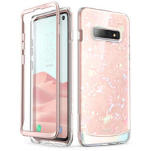 I BLASON For Samsung Galaxy S10 Case 6.1 inch Cosmo Full Body Glitter Marble Bumper Cover Case WITHOUT Built in Screen Protector