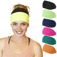 Новинка, спортивная лента для волос, эластичная широкая лента, нескользящая повязка от пота на голову, Йога, упражнения, бег, спорт, Атлетиче...