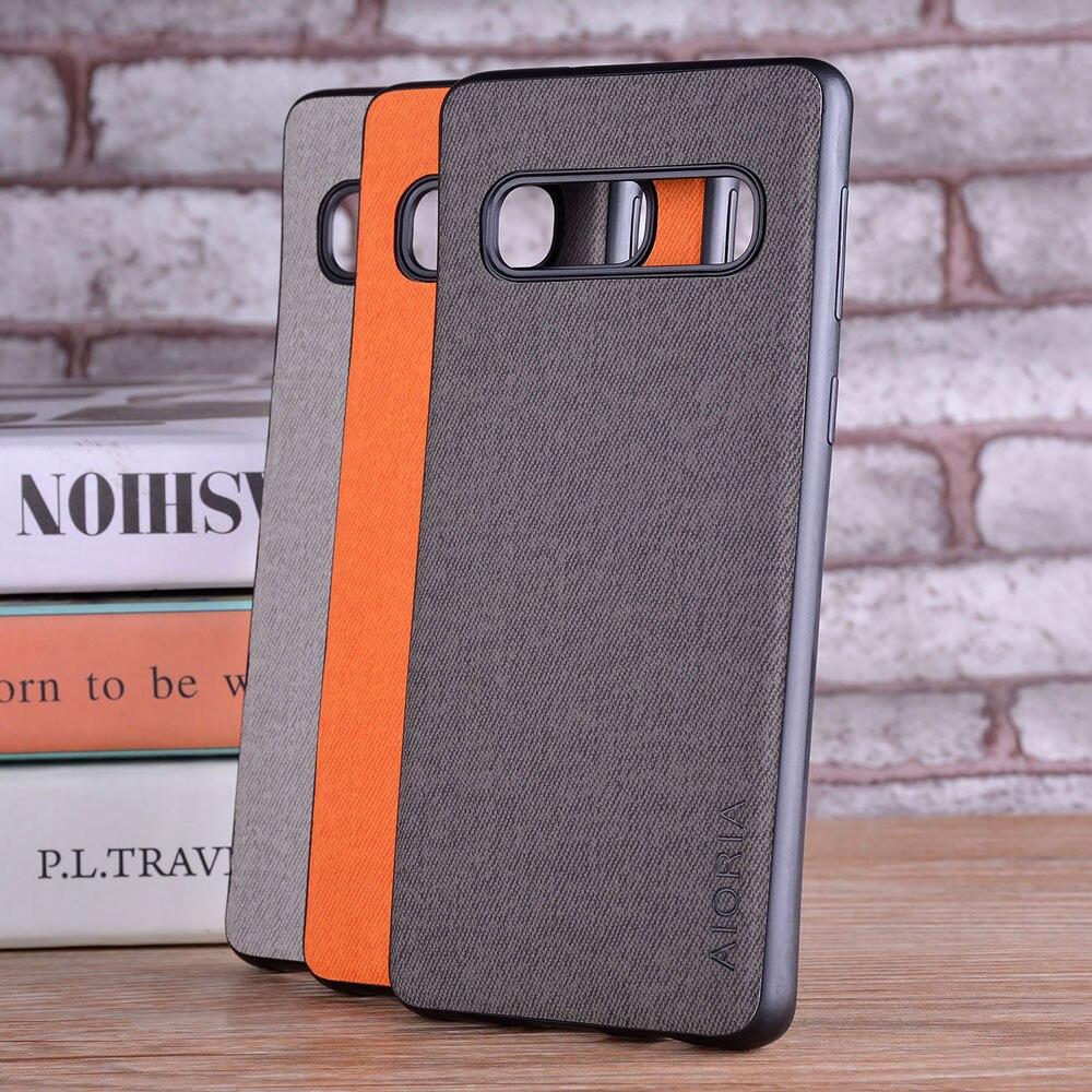 Чехол для Samsung galaxy S10 Lite S10E S10 Plus 5G coque роскошный текстильный кожаный мягкий ТПУ Жесткий ПК чехол для samsung S10