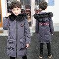 HSSCZL/куртки на утином пуху для мальчиков 2019 г., детское зимнее утепленное пальто с капюшоном и натуральным мехом для больших мальчиков, верхн...
