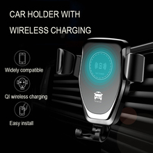 Auto Clamping Car Phone Holder Wireless Charging Ca