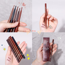 Xixi Color Eyeliner Pen Does Not Smudge Waterproof Female Brown Makeup Eyeliner