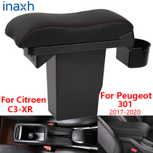For Peugeot 301 Armrest For Citroen C3-XR Armrest box Retrofit parts Car  Storage box car accessories Interior 2017 2018 2019 for suzuki swift armrest box 2005 2019 car armrest car accessories interior storage box retrofit parts usb 2011 2014 2017 2018