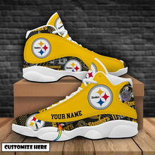 CHNNFC Men Steelers High Top Lace-Up Fashion Sneakers Shoes Ankle Boots,Pick Steelers!