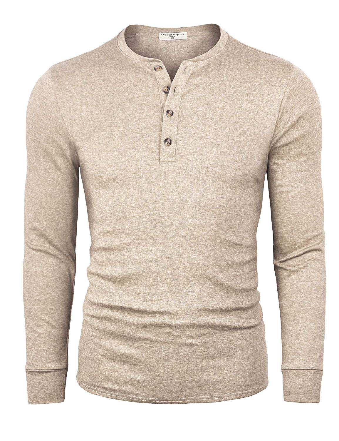 M220100 Men's Cotton Casual Long Sleeve Lightweight Basic Thermal T Shirts - 2