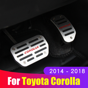 Car Accessories Aluminium alloy Accelerator Gas pedal Brake pedal plate Cover For Toyota Corolla 2014 2015 2016 2017 2018 AT lsrtw2017 aluminium alloy car accelerator brake pedal trims for peugeot 3008 5008