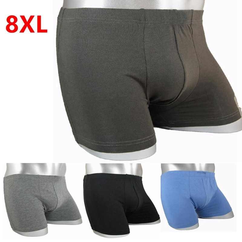 ขนาดใหญ่กางเกงผู้ชายนักมวย PLUS ขนาดฝ้ายดูดซับเหงื่อมุมขนาดใหญ่กางเกงขาสั้น Breathable cotton ชุดชั้นใน 8XL 7XL