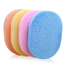 Sponge Puff Face Makeup Pad Cleaning Cosmetic Make Up Thin Daily Washing Tool Random Color