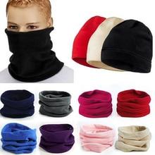 3в1 зимний унисекс женский мужской спортивный термо Флисовый Шарф снуд для шеи теплая маска для лица шапочки шапки