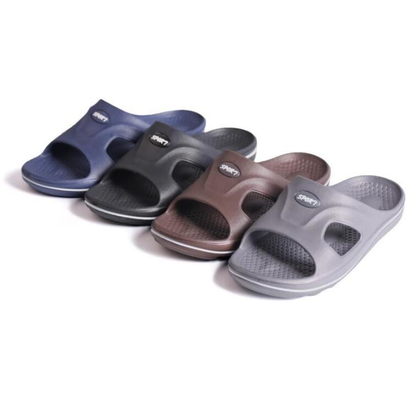 New Men Sandals Home Slippers Soft Light Anti Slip Bathroom Sandals Male Flip Flops Household Footwear All Seasons
