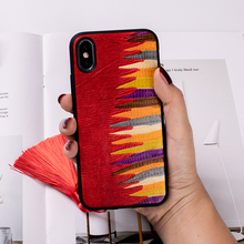 Phone Case For iPhone 7 8 X Xs Max Painted Cowhide Cover iphone 6 6s Plus Xr 7p 8p