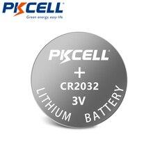 100PCS PKCELL CR2032 batteria CR 2032 BR2032 DL2032 SB T15 EA2032C ECR2032 L2032 3V Al Litio Della Moneta Delle Cellule del Tasto della batteria mucchio cr2032