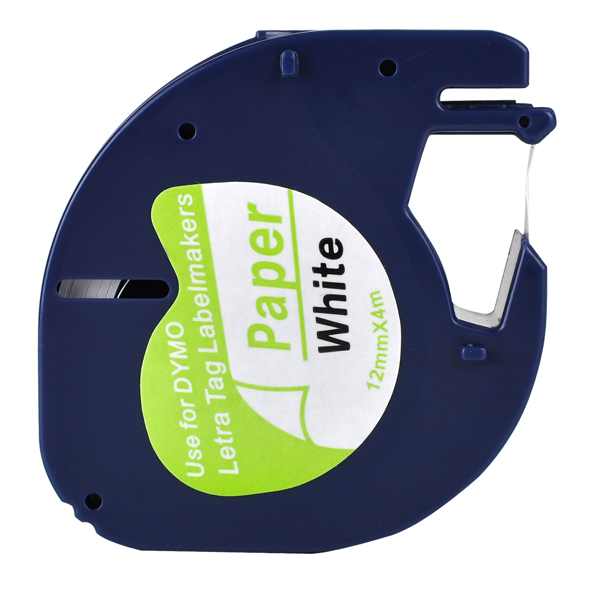 1 Kompatibel DYMO Letratag 91200 Hitam Putih (12 Mm X 4 M) kertas Label Tape untuk LT-100H, LT-100T, LT-110T, QX 50, XR, Xm title=