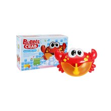 Outdoor Bubble Frog&Crabs Baby Bath Toy Bubble Maker Swimming Bathtub Soap Machine Toys for Children With Music Water Toy недорого