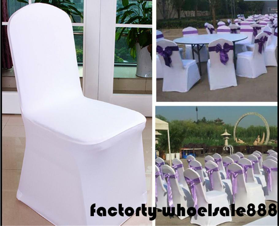 Wholesale White Polyester Banquet Chair Covers Reception Wedding Party Birthday Decors Party Chairs  Wedding Chairs