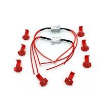 2 uds. De resistencias de carga de 25W, intermitentes LED de Flash, indicadores de luz, controladores de freno para motocicleta, con 8 clips de cable rápido