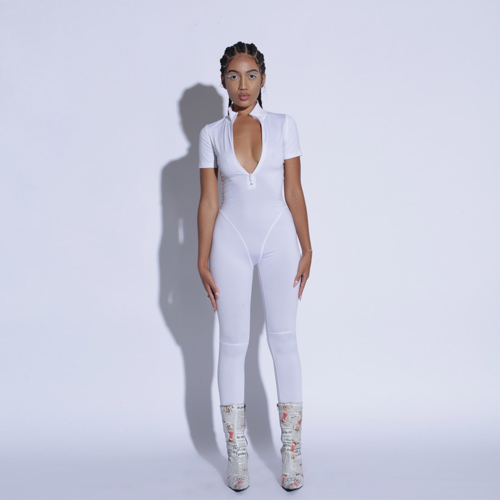KGFIGU Rompers Womens   Jumpsuit   2019 Sexy Ladies solid color Long pants overalls Women white Skinny   Jumpsuits   womens clothing