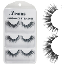 3Pairs 3D Faux Mink Hair False Eyelashes Natural/Thick Long Eye Lashes Wispy Makeup Beauty Extension Tools
