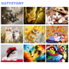 GATYZTORY Frame DIY oil painting by numbers kit for adults colorful cute cat pictures by numbers animals acrylic wall art paint