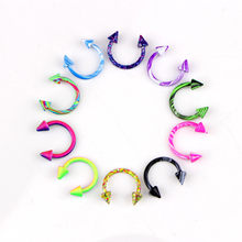 Fashion 2 Pcs Clip on Body Jewelry Nose Lip Ear Fake Piercing Rings Stud Punk Goth False Hoop Earrings Septum Gift(China)