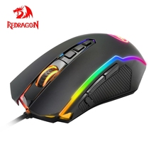 Redragon Ranger M910 RGB USB Gaming Mouse Wired 12400 DPI 10 Buttons Ergonomic For Desktop Computer Programmable Mice PC Gamer