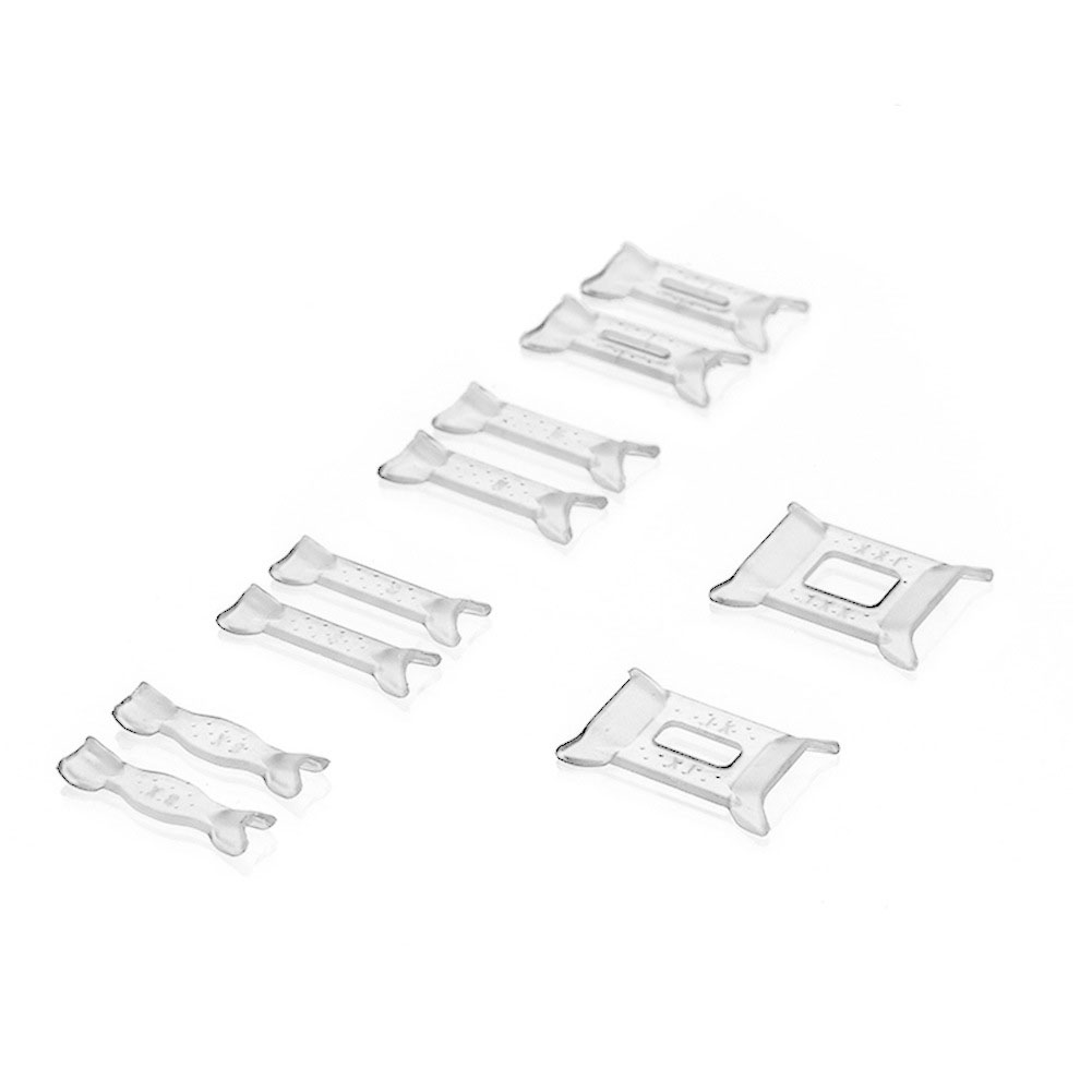 10pcs Durable Portable Resizing Tools Transparent Mini Guard Adjustable Glue Assorted Types Professional Ring Size Reducer