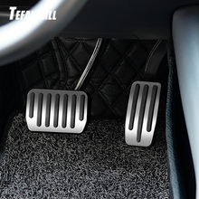 Stainless Steel Foot Pedal for Tesla Model X S Accelerator Gas Fuel Brake Pedal Rest Pedal Pads Mats Accessories Car Styling new arrival car foot pedal for tesla model 3 accelerator gas fuel brake pedal pads mats cover accessories car styling
