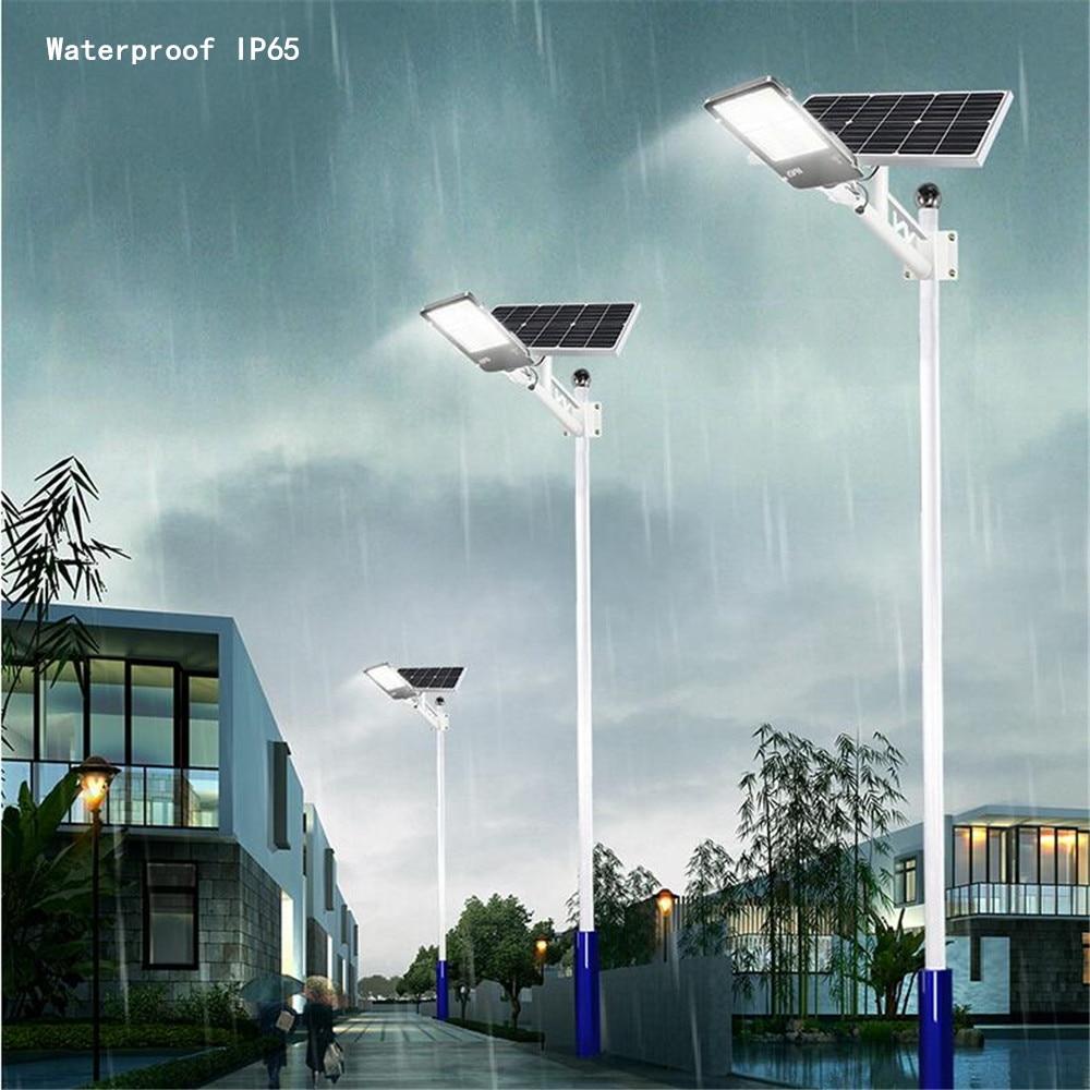 НОВЫЙ 200 Вт/300 Вт все в одном Солнечный уличный светильник супер яркий высокой мощности открытый Солнечный садовый светильник водонепроницаемый светильник ing для дорожного двора - 6