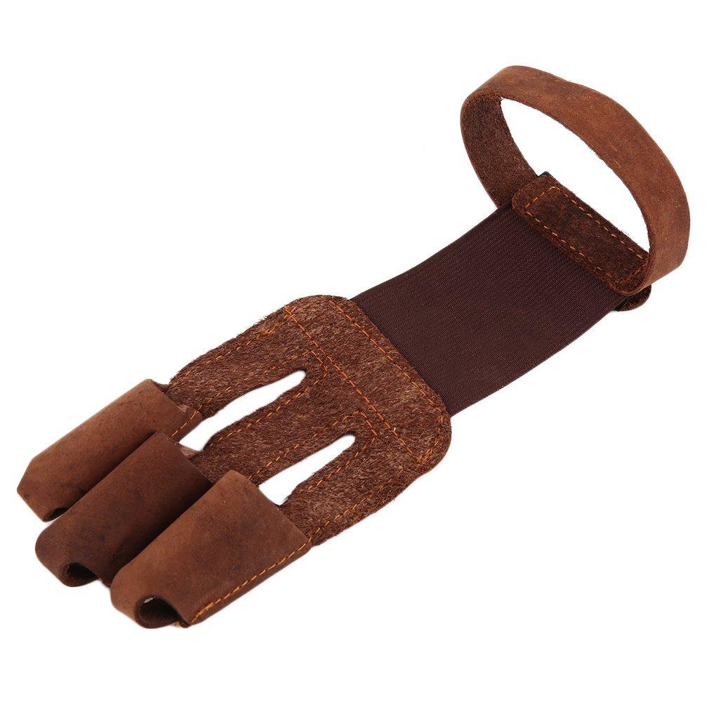 Купить защитные перчатки для стрельбы из лука 3 кончика пальцев кожаные