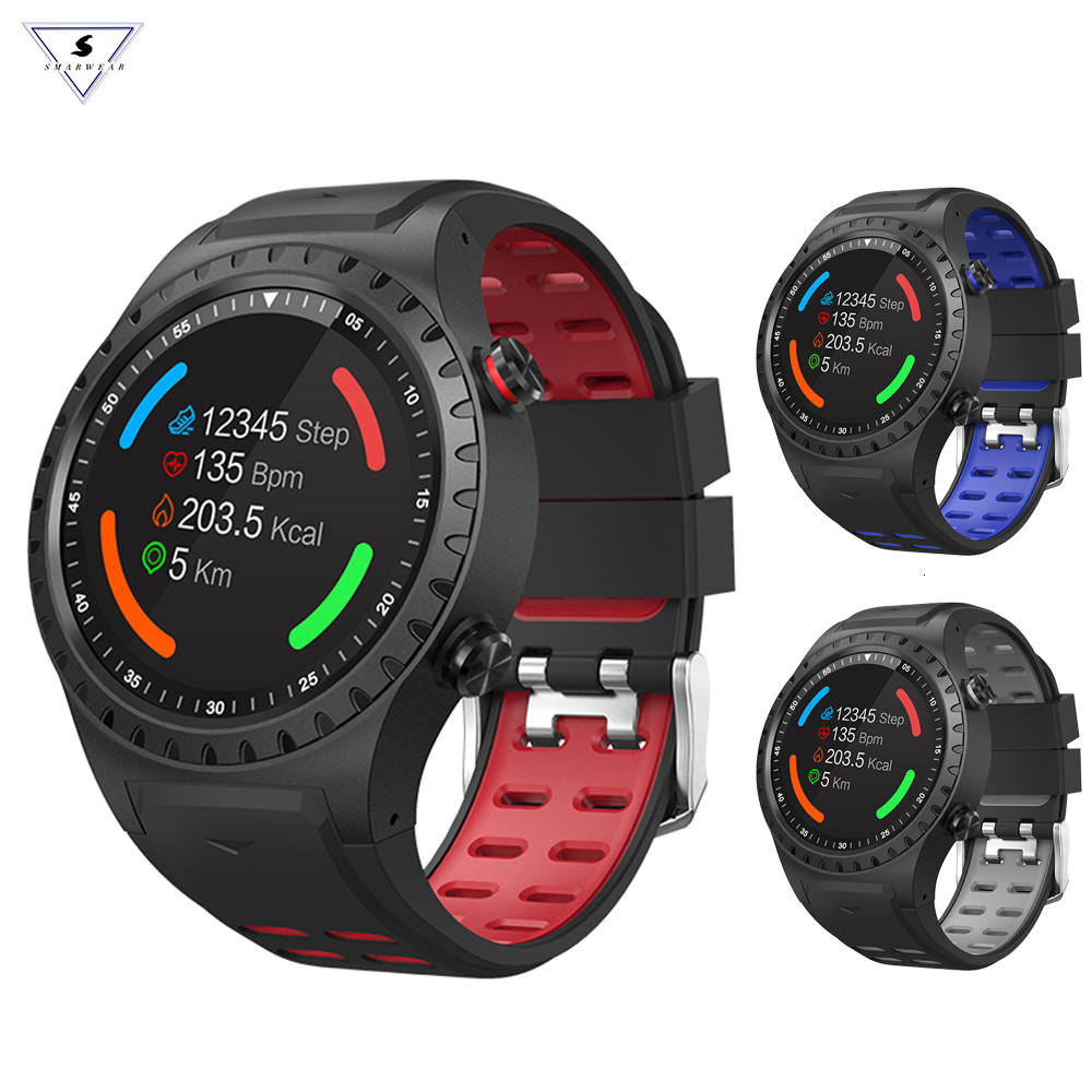Smarwear <font><b>M1</b></font> Smart <font><b>Watch</b></font> Support Sim bluetooth Phone Call Gps Smartwatch Phone Men Women Ip67 Waterproof Heart Rate Monitor Clock image