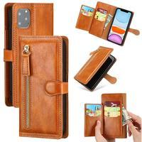 Custodia a portafoglio in pelle di lusso con cerniera per iPhone 11 Pro MAX X XS XR 6 6s 7 8 Plus SE 2020 supporto per carta supporto per telefono Coque