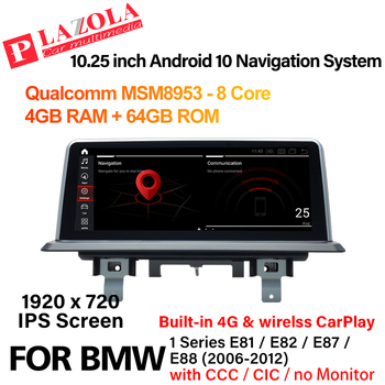 Android 10 Car Multimedia Navi GPS Player For BMW 1 Series E81 E82 E87 E88 2006-2012 CCC CIC or NO Monitor CarPlay Car Stereo image