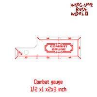 Wargame Base World - combat gauge - measure tooling - ruler for Warhammer
