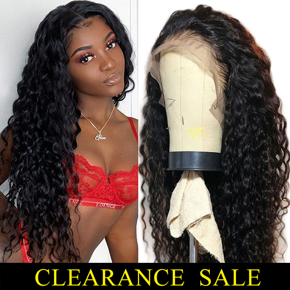 13x4 Lace Front Wigs Pre Plucked Brazilian Hair Remy Water Wave Glueless Short Human Hair Wigs For Black Womten 8-26'' 150%