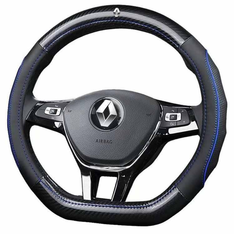 พวงมาลัยหนังแท้ครอบคลุมสำหรับ Renault Clio Kadjar Kaptur Koleos Scenic Espace Fluence Megane Laguna Talisman CAPTUR